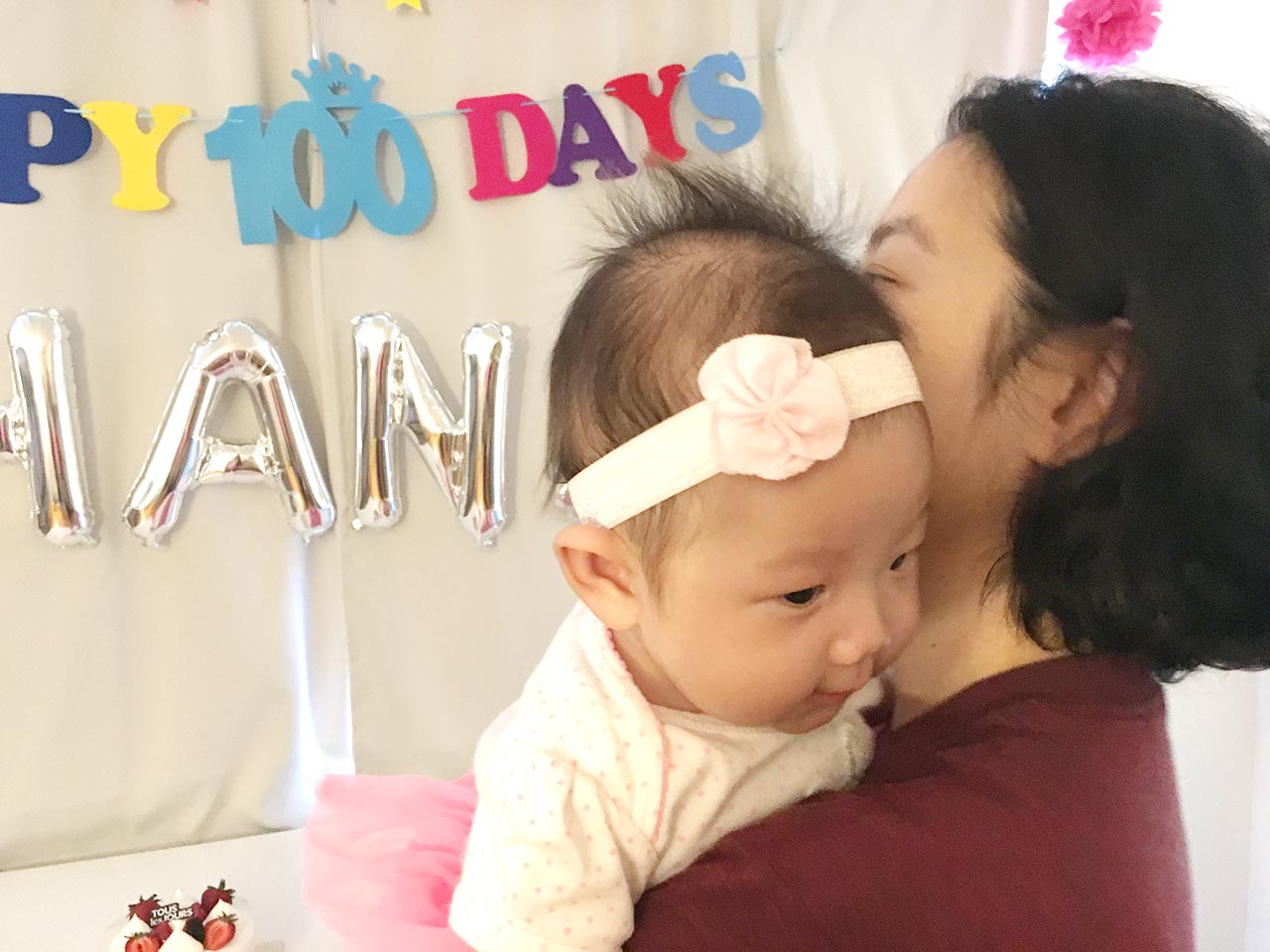 Hana and mommy